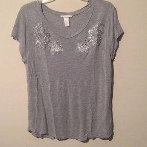 Grey short sleeve top